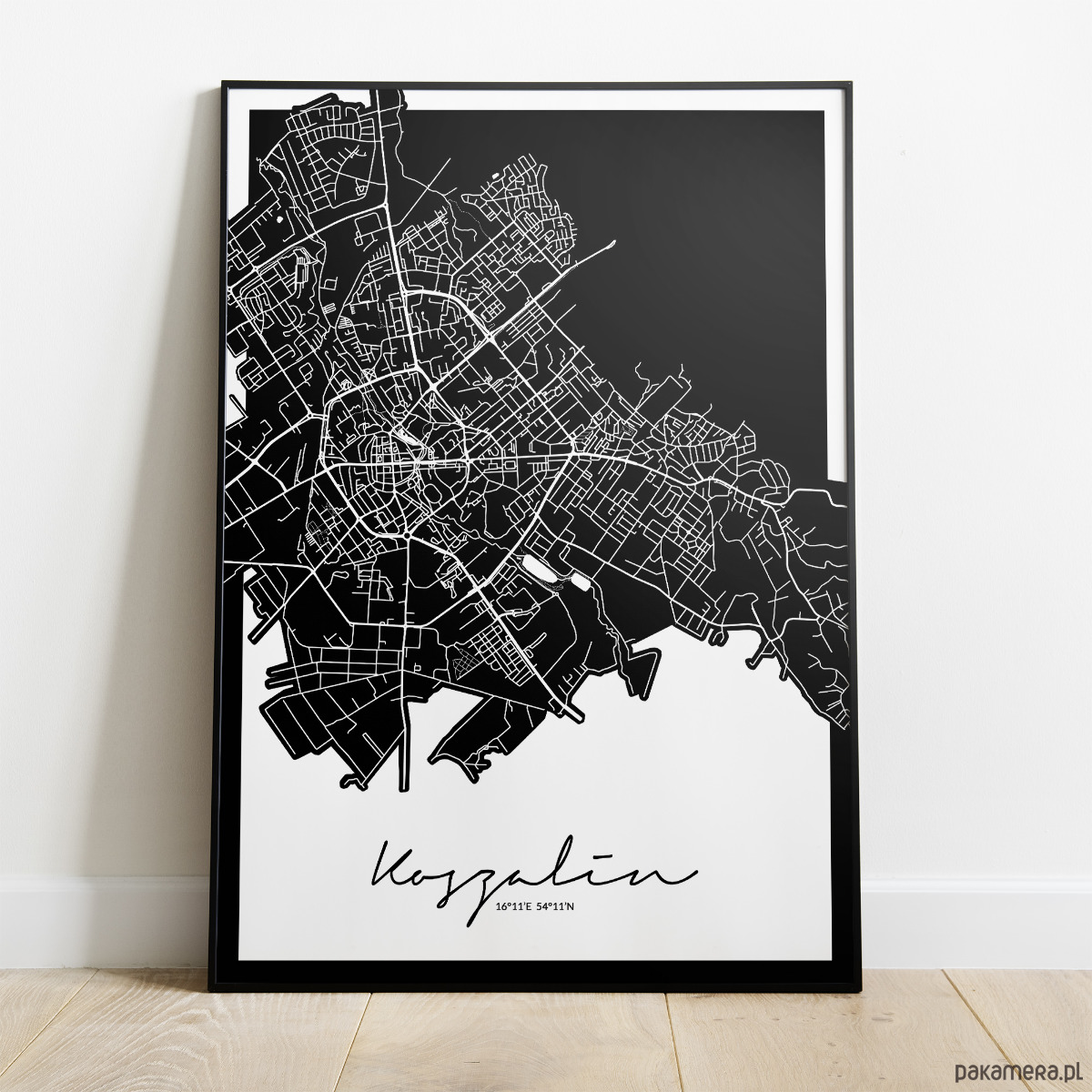 Plakat Koszalin Mapa Pakamerapl