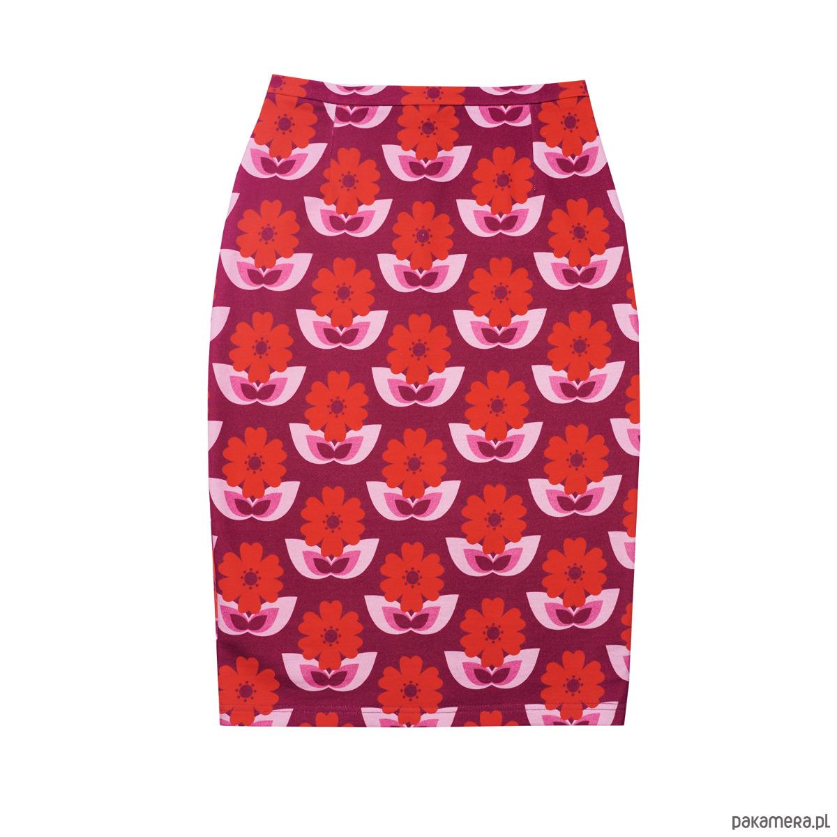 Spódnica ołówkowa Dzika Róża