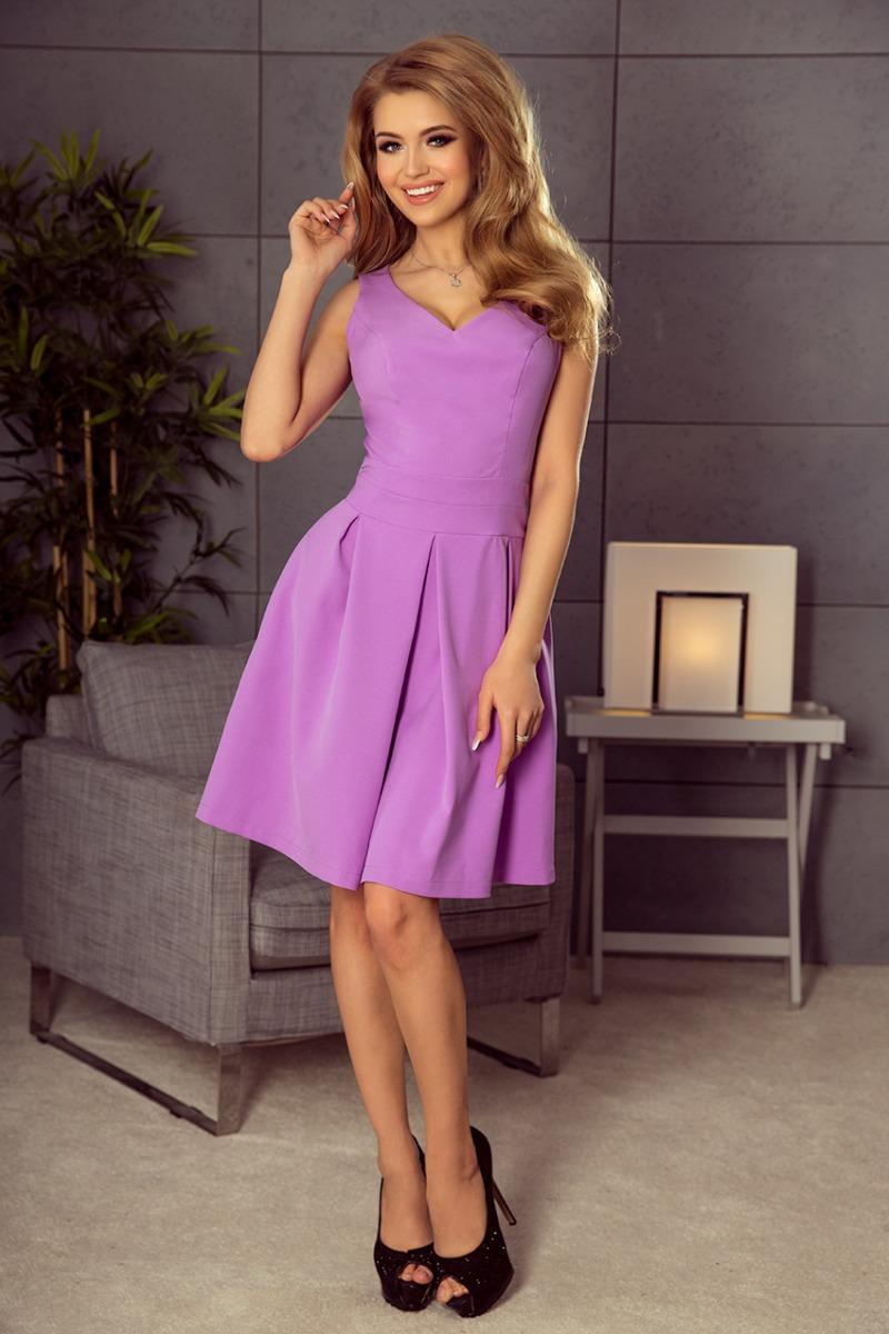 Sukienka klasyczna iGA kontrfałda fioletowa