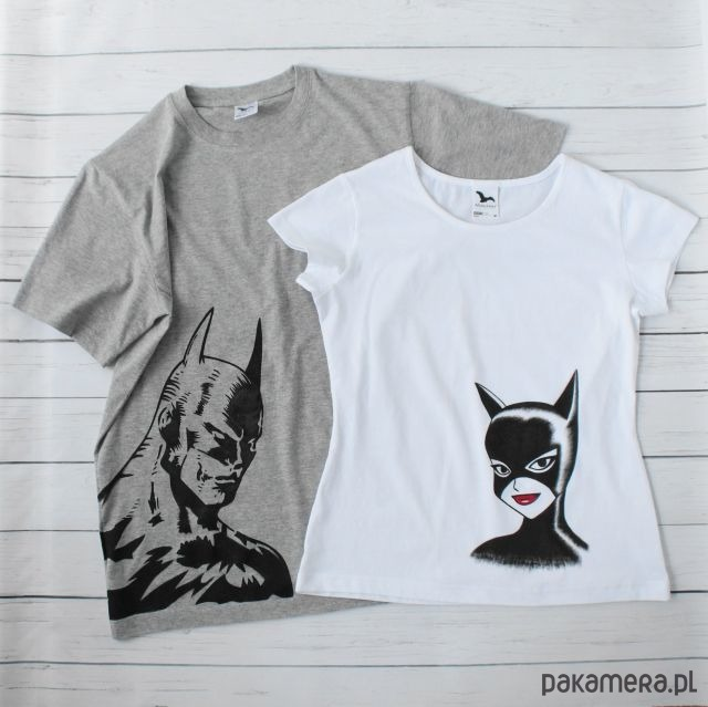 c2e25de2981c16 Moda - bluzki - t-shirty - damskie-Koszulki dla pary batman i catwoman ...