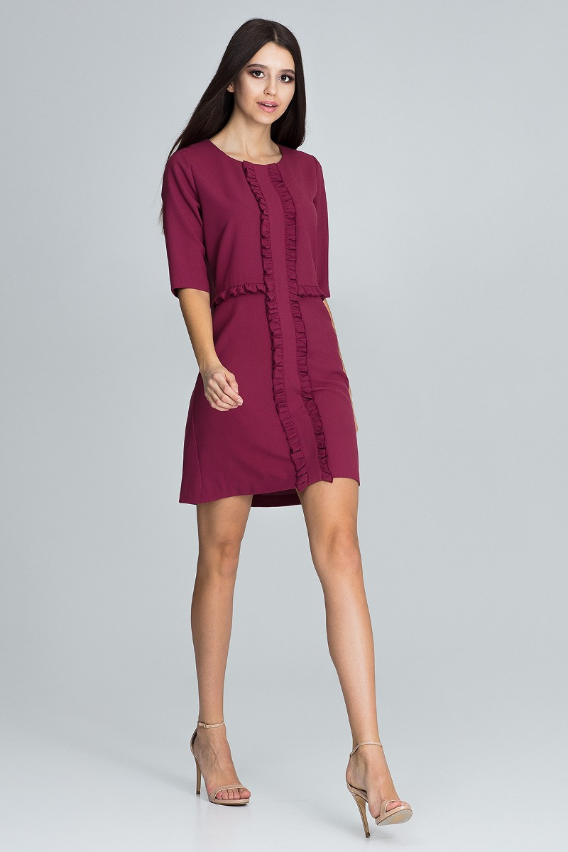 Sukienka mini m618 bordo