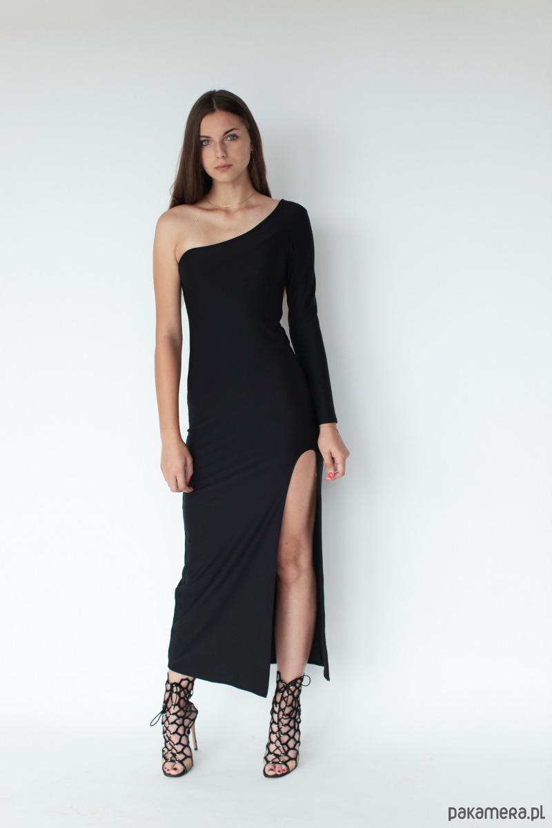 Sukienka Rosalia z rozcięciem
