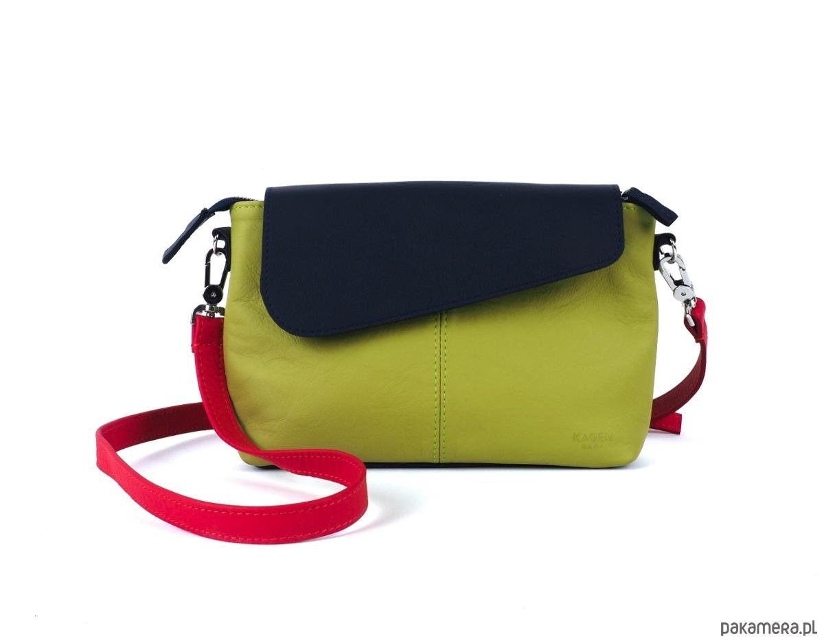 38286fe1bcd1b torby na ramię - damskie-Torba mała listonoszka VICKY limonka-granat