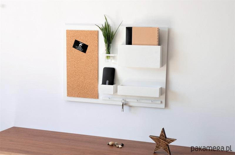 Inteligentny Organizer - 63x45 cm, drewniany, na ścianę, - meble - organizery XK81