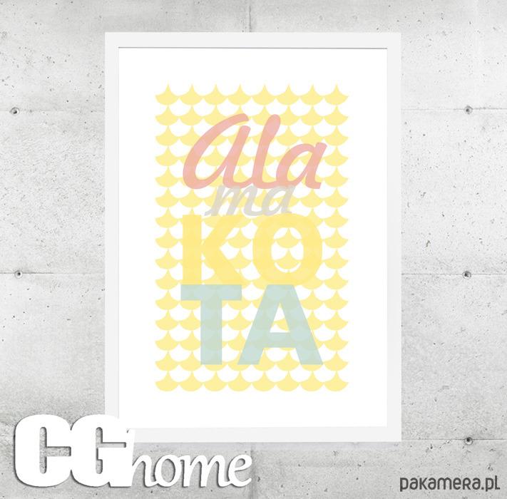 Ala Plakat Grafika Literki Typografia Imię Pakamerapl