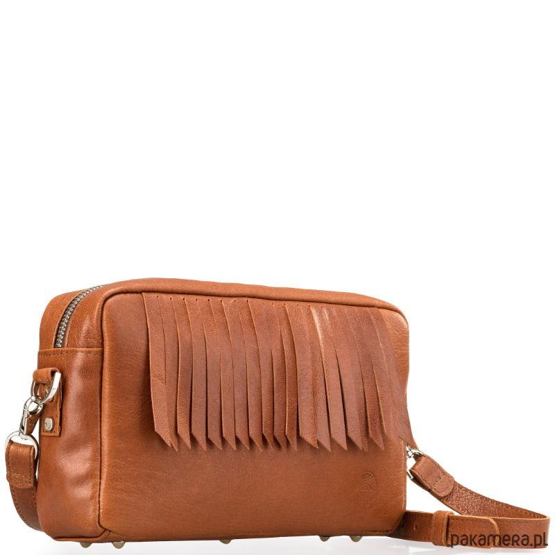 b08631275cf9c Skórzana brązowa damska torebka na ramię - torby na ramię - damskie -  Pakamera.pl
