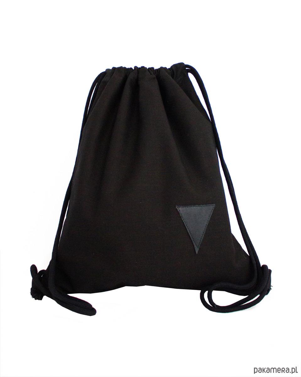 82568e2e612f5 Worek bawełniany czarny Black - plecaki - Pakamera.pl