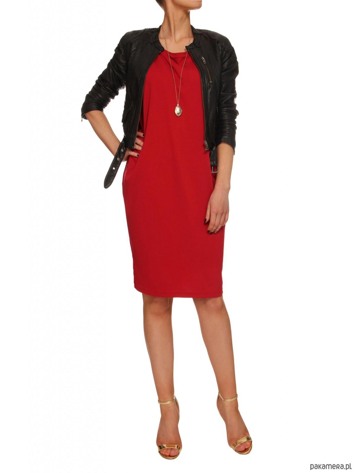 Sukienka czerwona YY100059_RAL3020