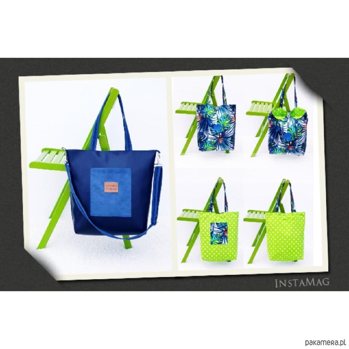1a6745dbacaa8 torby na ramię - damskie-Granatowa torebka Anatola i torba bawełniana