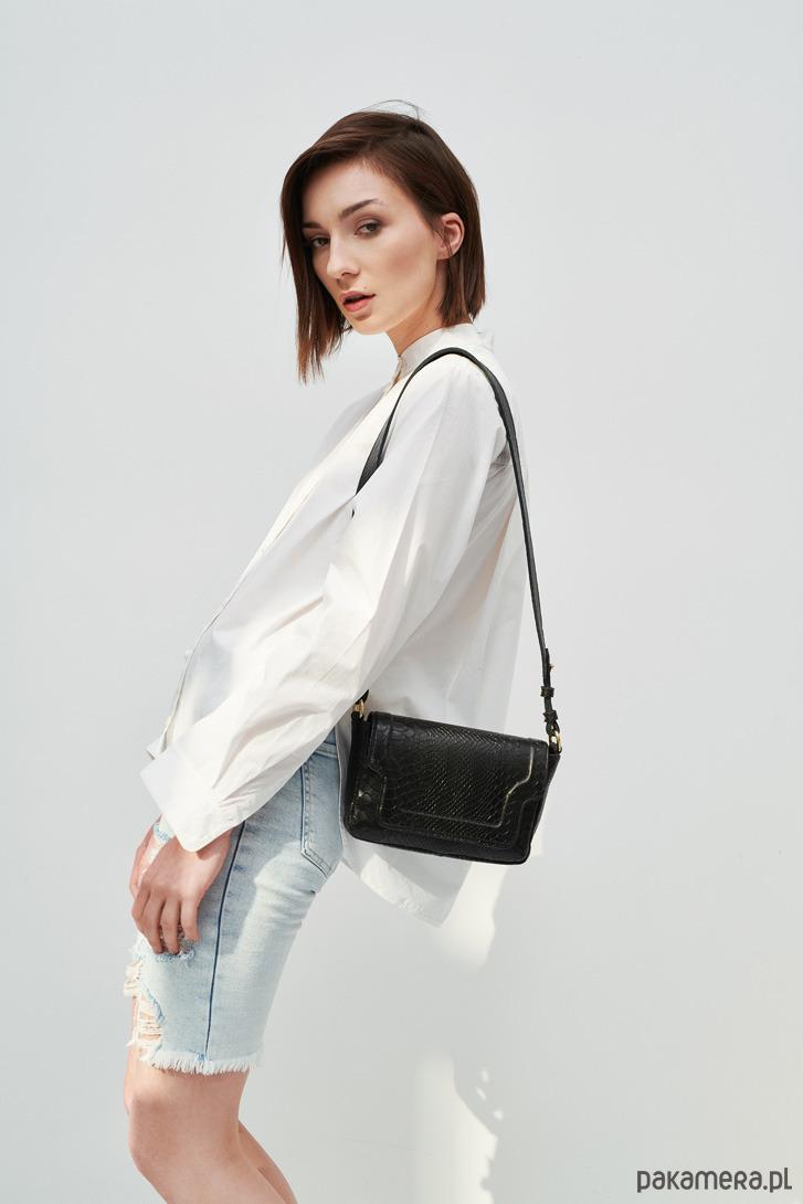 d7969a52573c5 torby na ramię - damskie-Damska skórzana torebka Mini Modern Choc Mamba