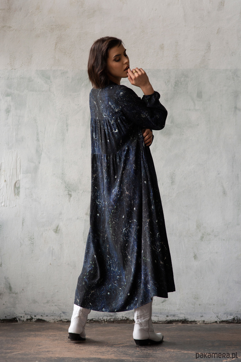 sukienka maxi VENUS galaktyka