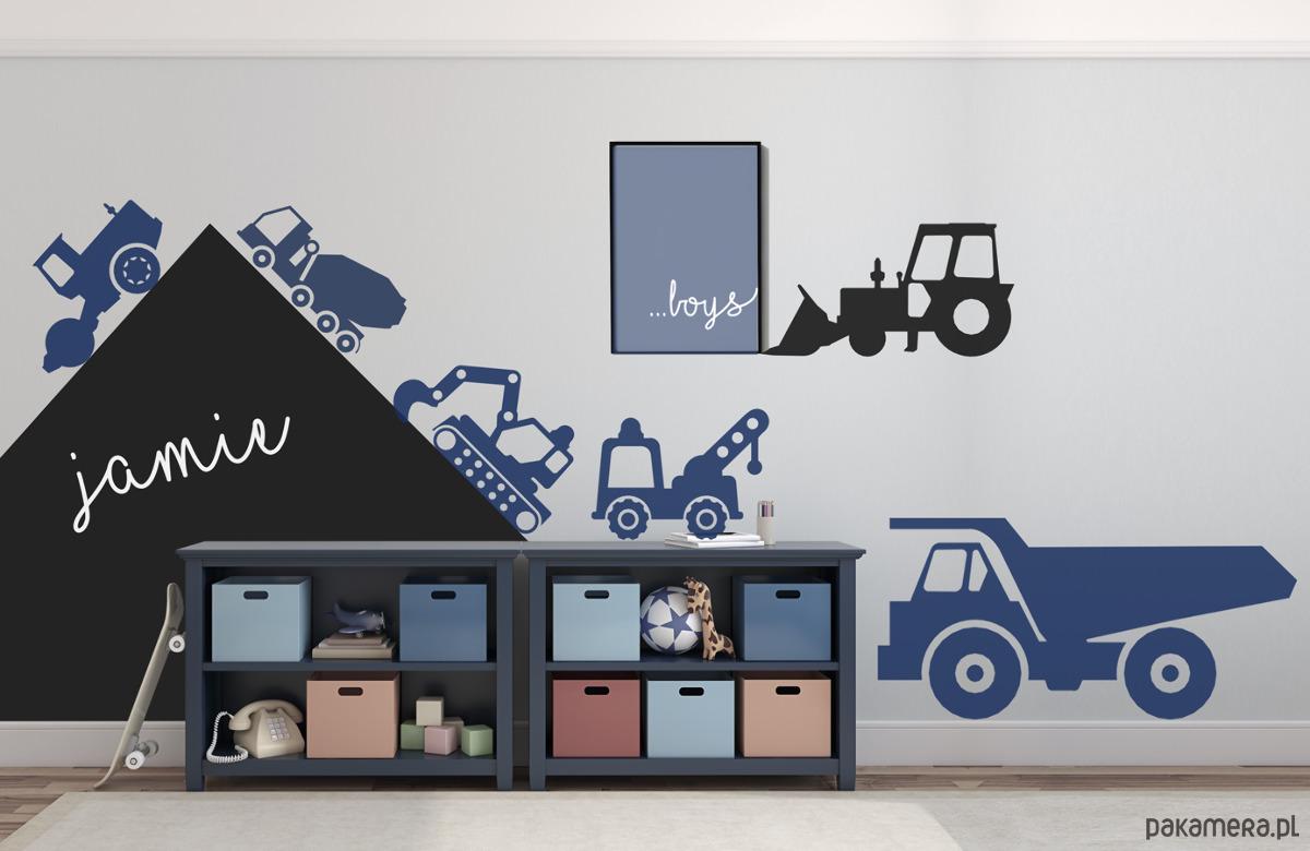 Samochody Naklejki Auta Ciężarówki Budowlane Dziecko Tapety I