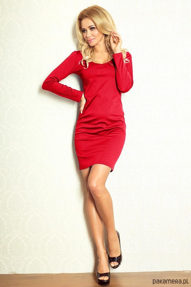 4553ca63dd Sukienka prosta CZERWONA rozm XL - sukienki - mini - Pakamera.pl