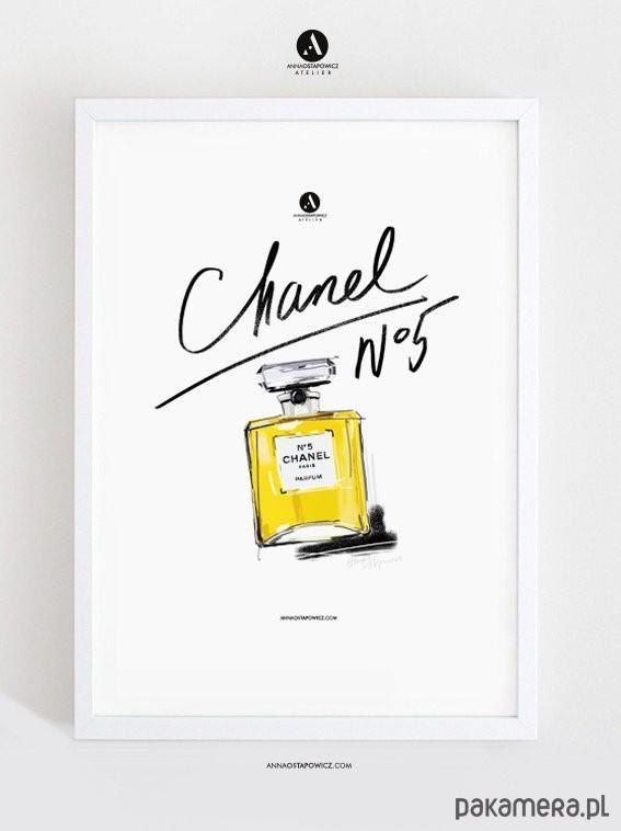 Chanel No5 Ilustracja A4 Plakaty Ilustracje Obrazy Inne