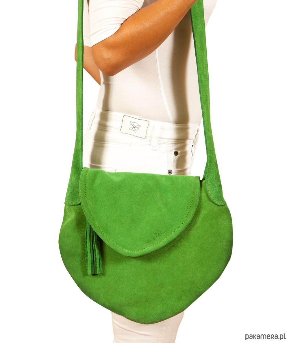 ae6f64b7674d5 Pontia skórzana zielona torebka - torby na ramię - damskie - Pakamera.pl