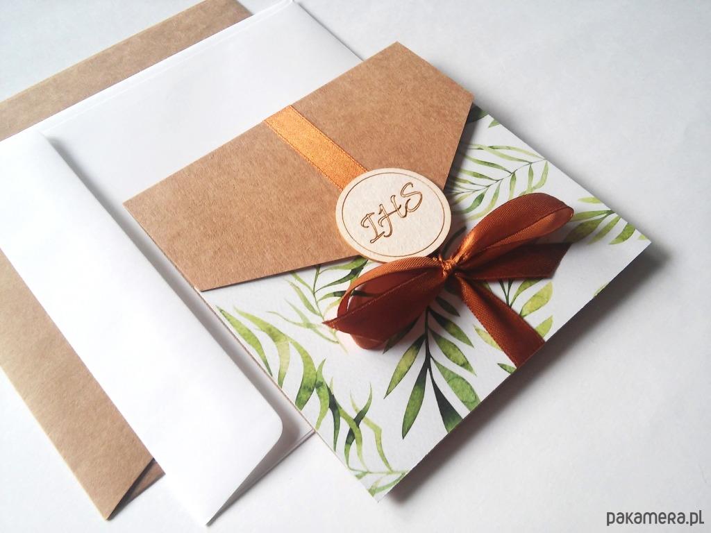 Zaproszenia Na Komunię W Folderze Chrzest Kartki Zaproszenia