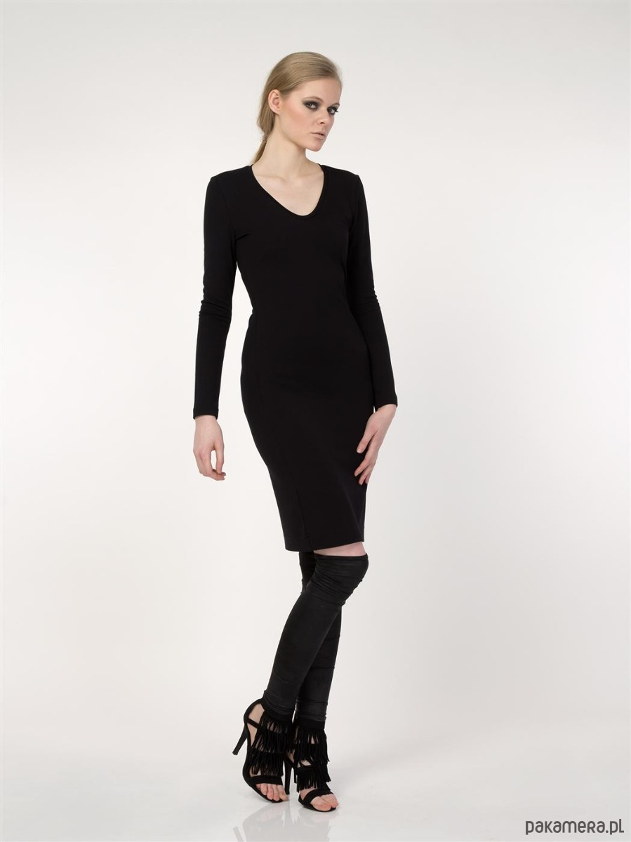 Sukienka czarna YY100089_RAL9005