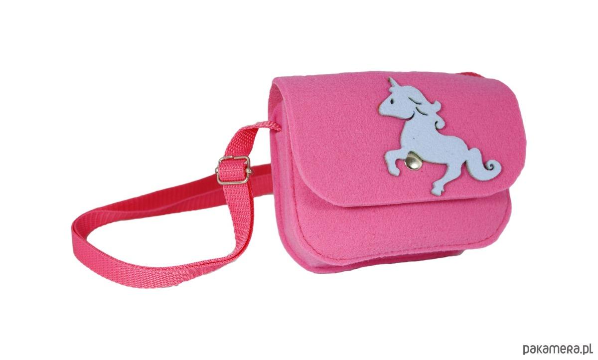 3f5ac844089a4 Różowa torebka dla dziewczynki z jednorożcem - akcesoria - torebki ...