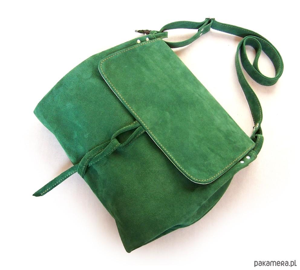 c753a62d0e809 Surowa BARONOWA zielona ZAMSZOWA - torby na ramię - damskie ...