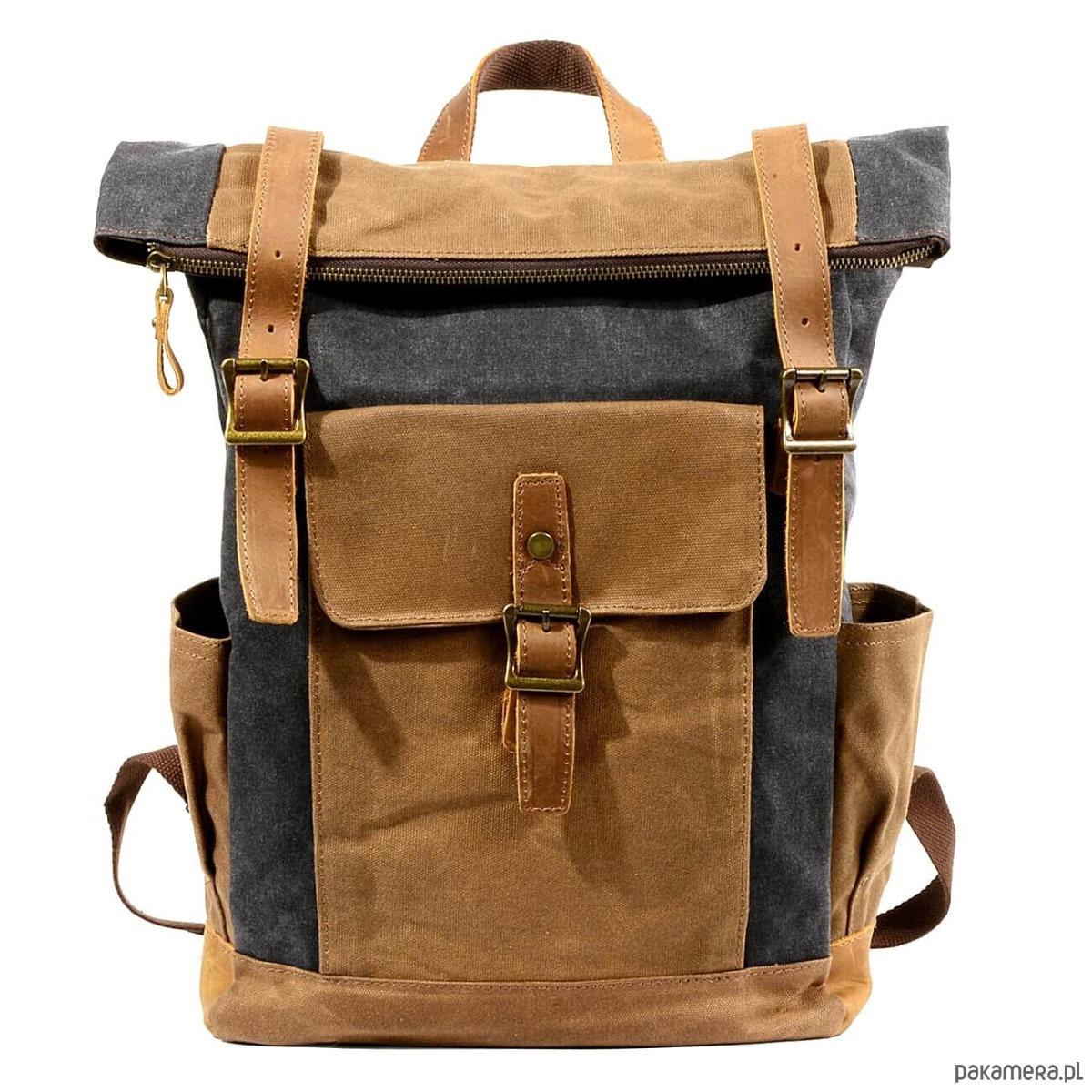 b83b3ae0f58b0 P8 WAX STANFORD UNISEX™ plecak płótno wosk. - plecaki - Pakamera.pl