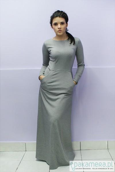 748e84ba17 Maxi popiel melanż - sukienki - maxi - Pakamera.pl