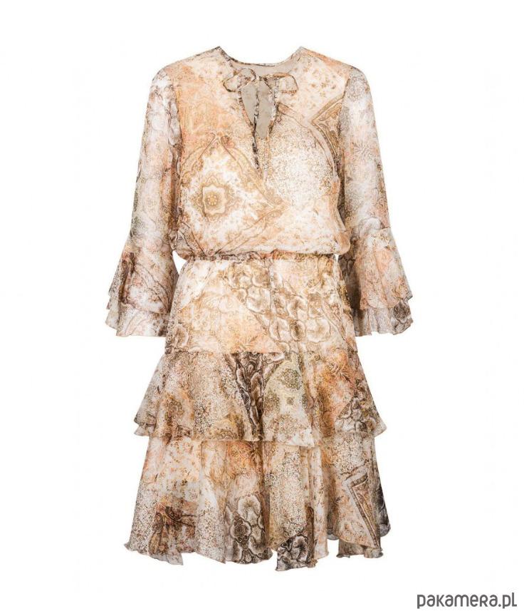 Sukienka jedwabna Gold