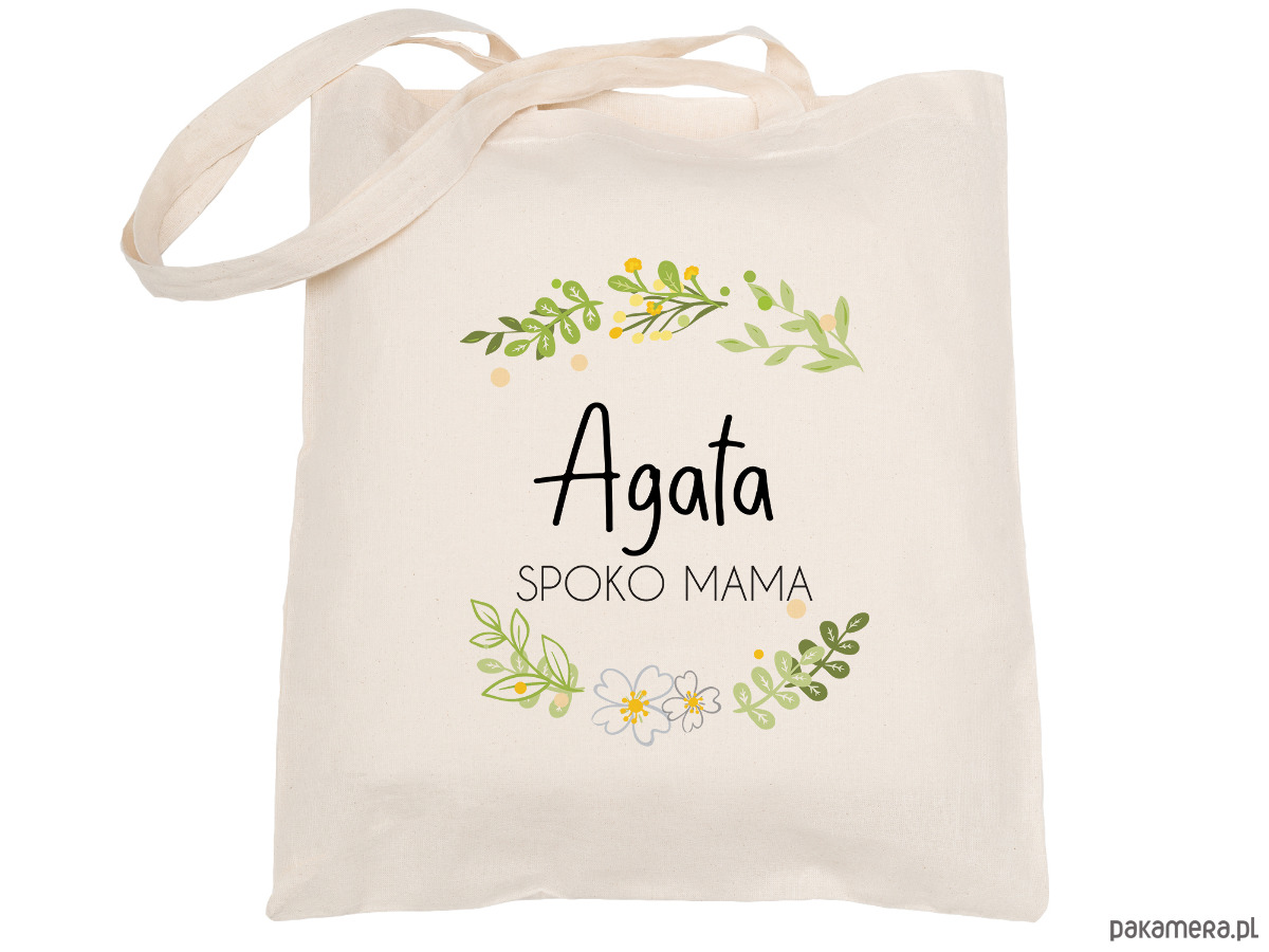 e9ac305c93749 torby na zakupy - damskie-Torba bawełniana dla mamy- Dzień Matki (imię)