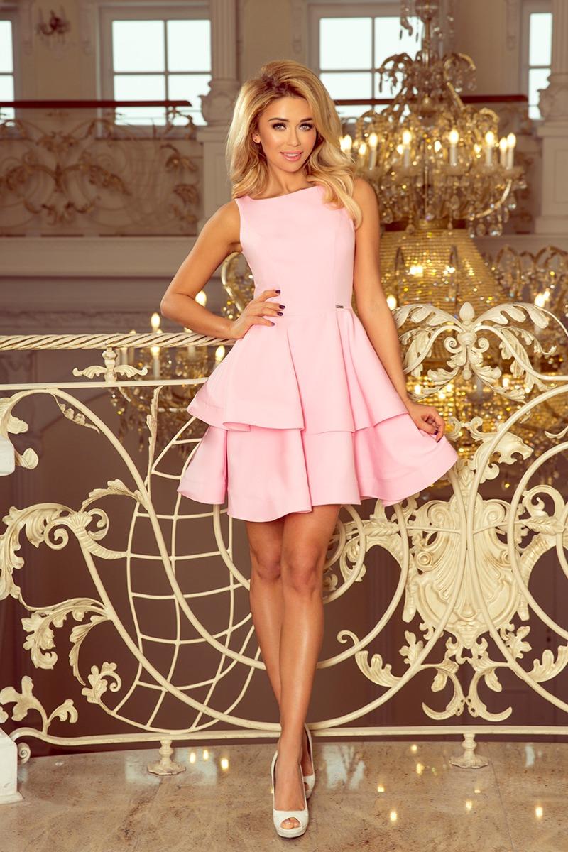 Sukienka rozkloszowana RAFAELLO różowa