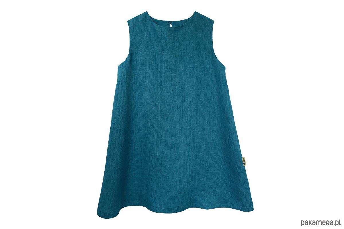 e44105b313 Lniana sukienka Fancy r. 122 - dziewczynka - sukienki - Pakamera.pl