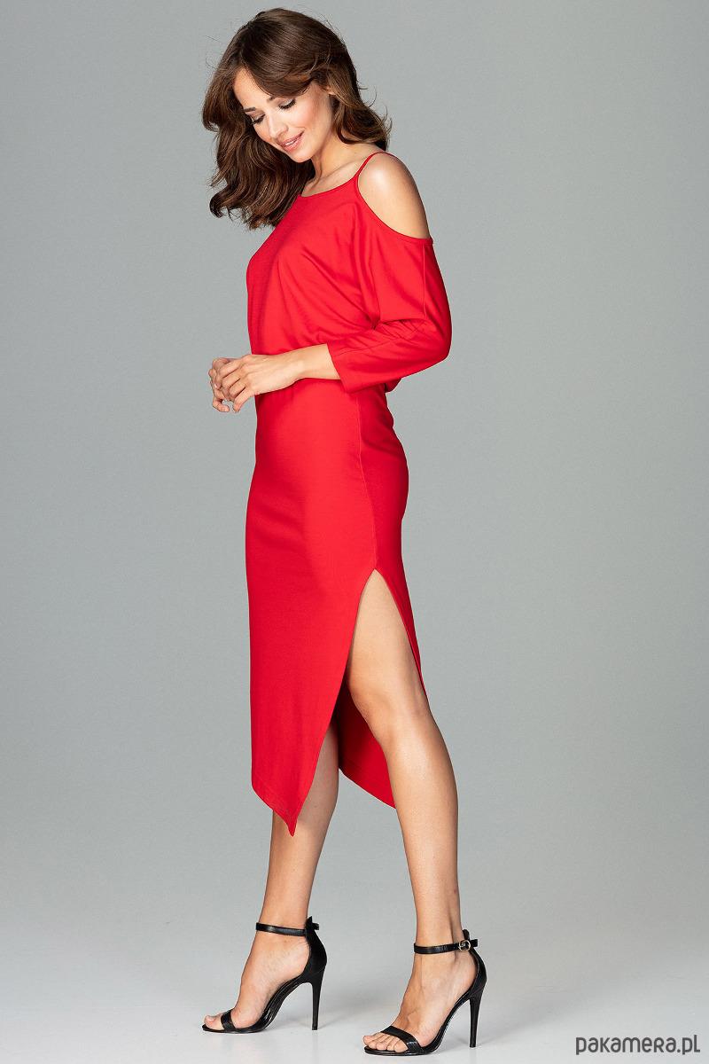 Sukienka K479 czerwony