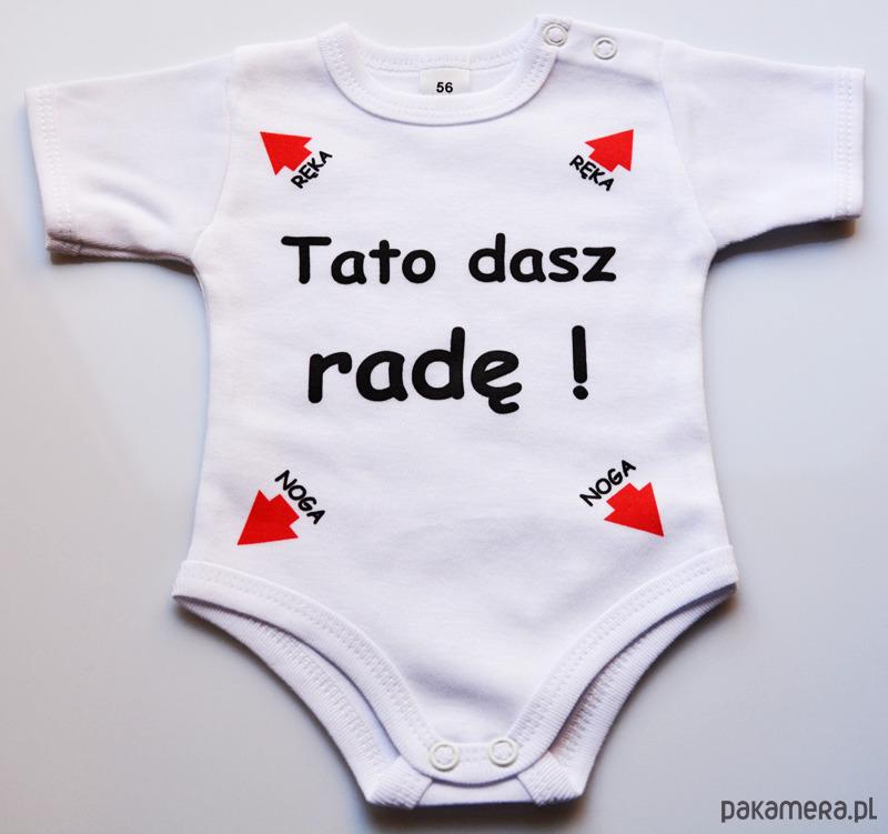 Genialny Body z krótkim rękawem Tato dasz radę - niemowlak - body i śpiochy DK72