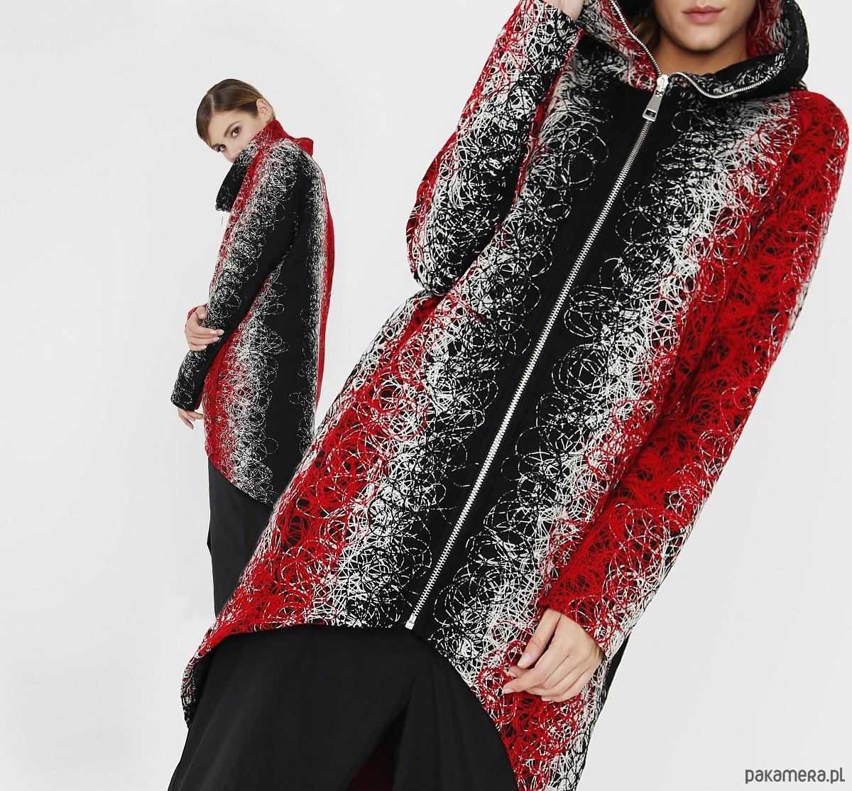 Wełniany płaszcz damski 'trzy kolory