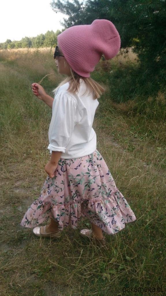 Spódnica dziewczęca w kwiaty