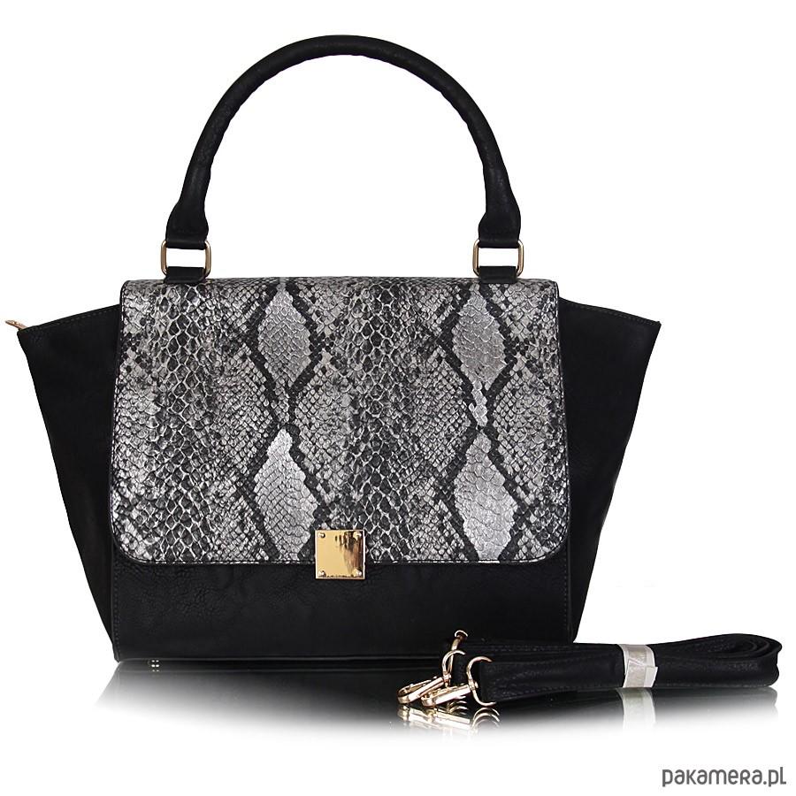 232678df76ba9 Torebka GRACE motyw zwierzęcy czarny - torby na ramię - damskie ...