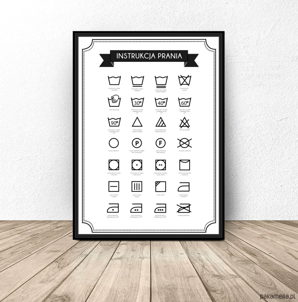 Plakat Do łazienki Instrukcja Prania Pakamerapl