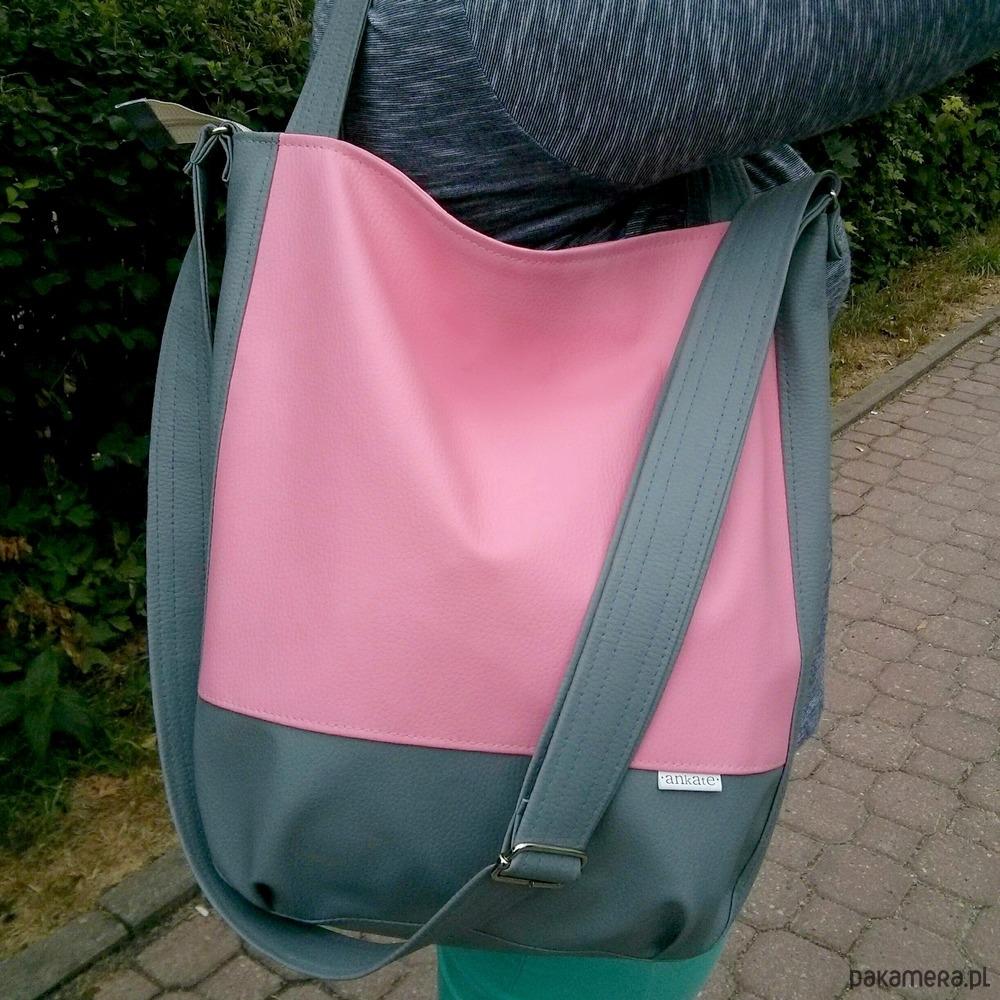 c4db34f1cd389 różowa torebka worek, różowa listonoszka - torby na ramię - damskie ...