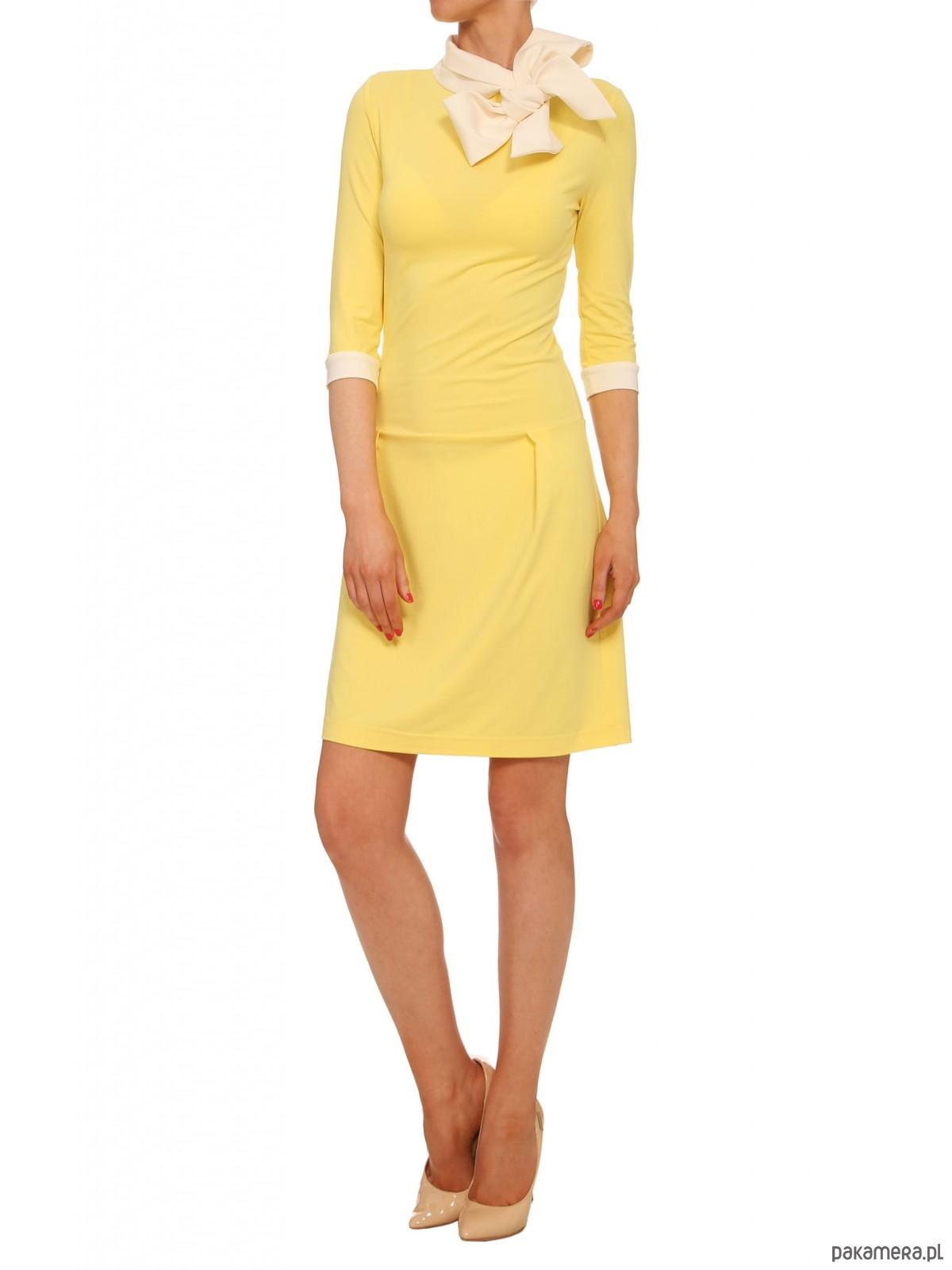 Sukienka żółta YY200106_RAL1026
