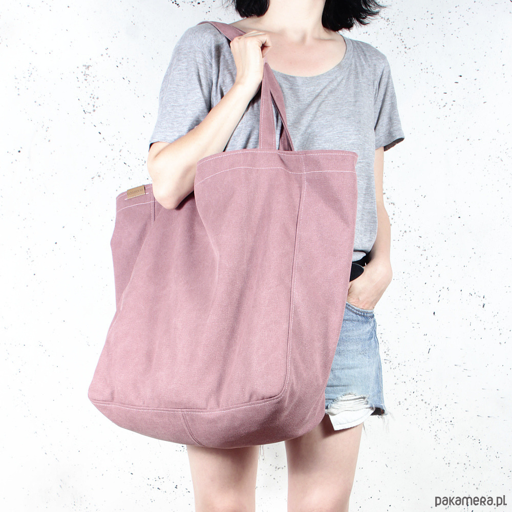 3f80a35b Big Lazy bag torba różowa na zamek / vegan / eco - Pakamera.pl