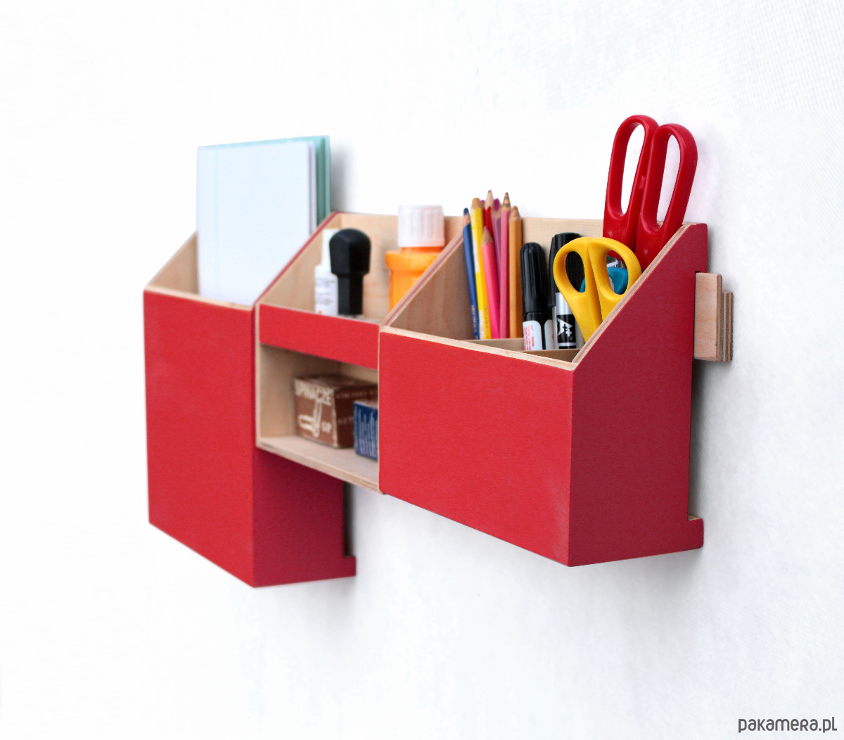 Organizer Przybornik na biurko Czerwony
