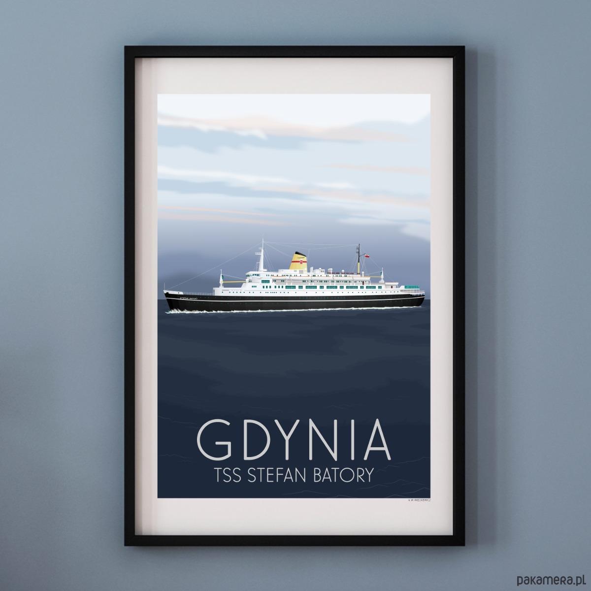 Plakat Gdynia Tss Stefan Batory Pakamerapl
