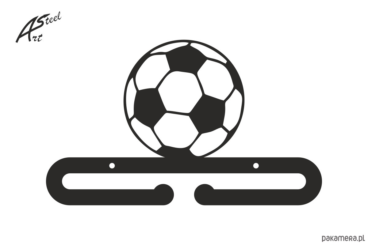 Tylko na zewnątrz Wieszak na medale piłka nożna, pomysł prezent - meble - wieszaki EW78