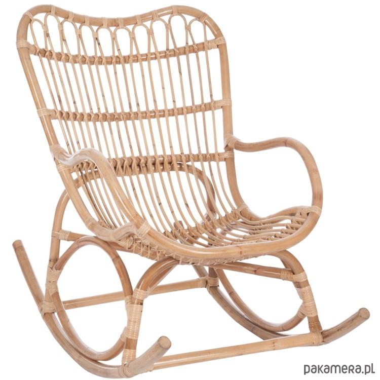 Krzesło Fotel Bujany Trzcina Bambus 93x110 Cm Pakamerapl