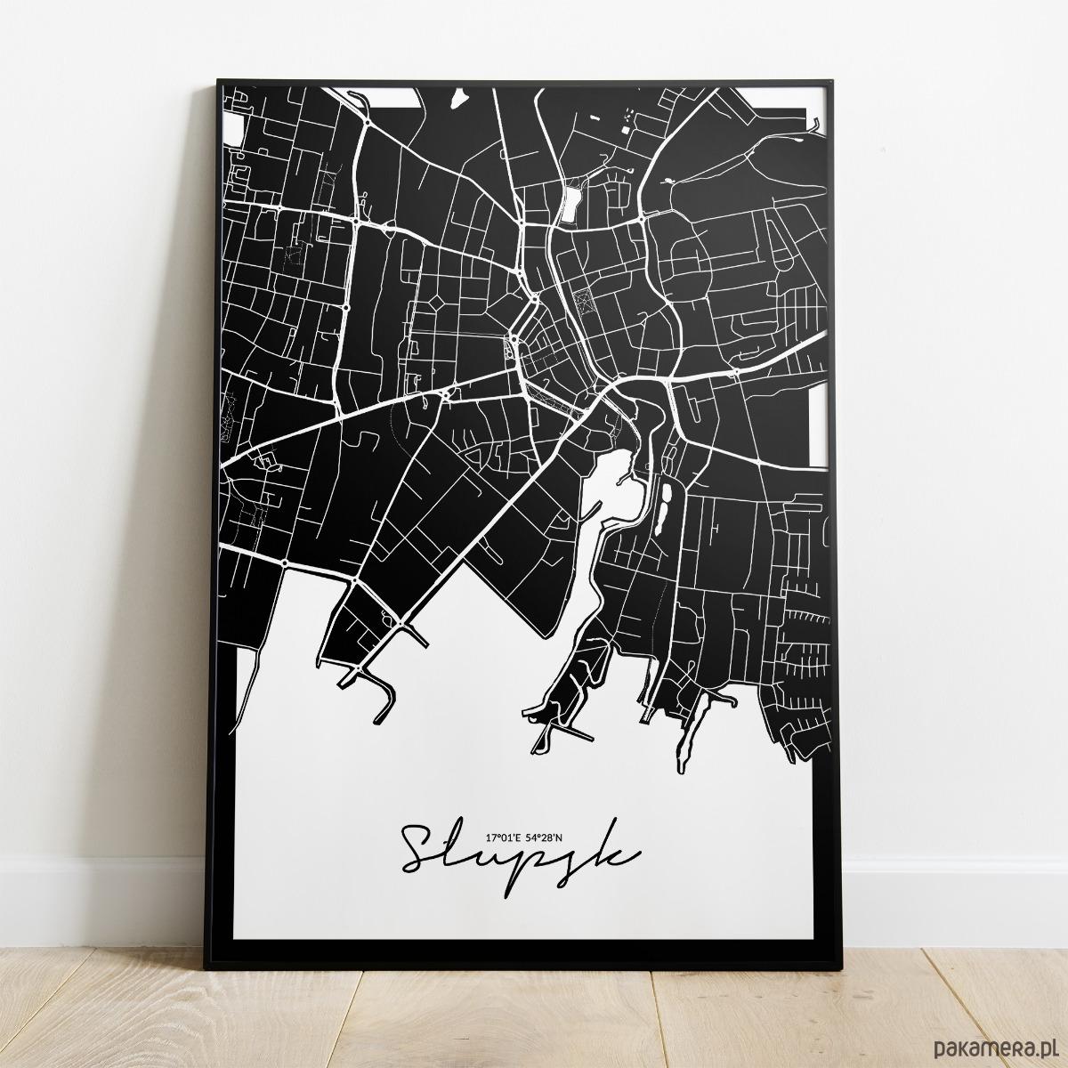 Plakat Slupsk Mapa Plakaty Pakamera Pl