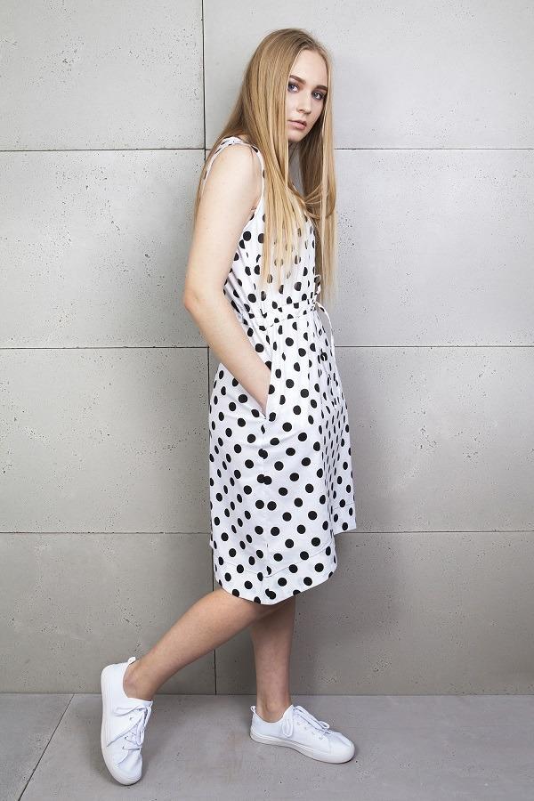 Sukienka letnia w kropki