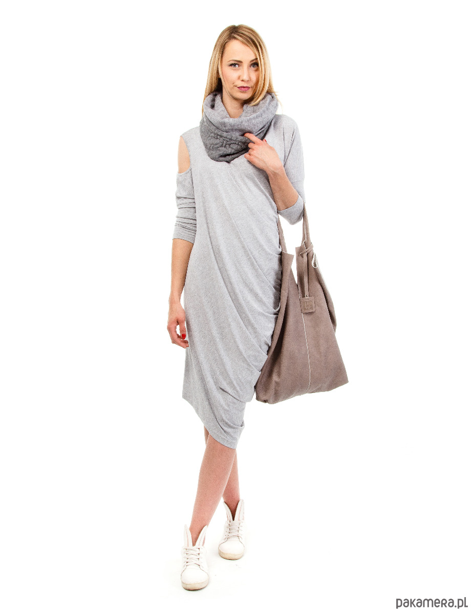 Sukienka damska Yasmine Look szary melanż