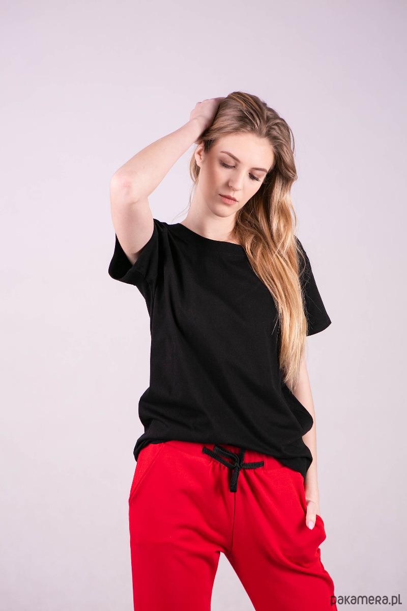 T-shirt damski klasyczny CZARNY