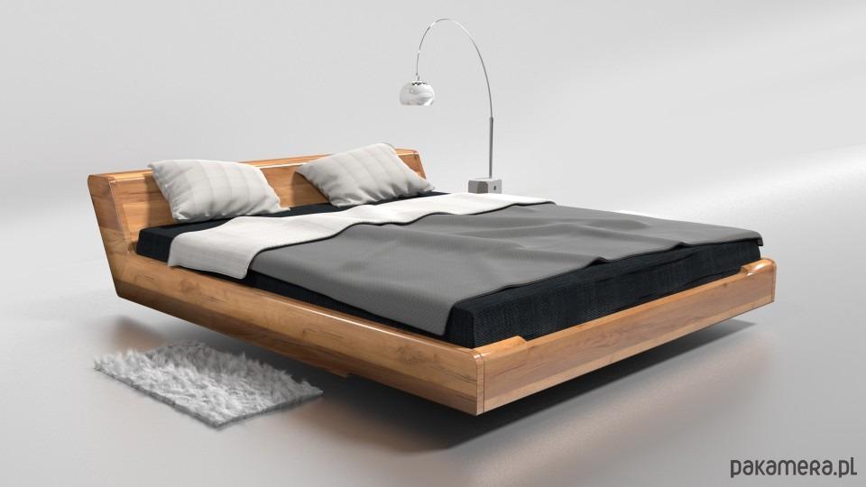 łóżko Drewniane Kobe Dąb 160x200 Pakamerapl