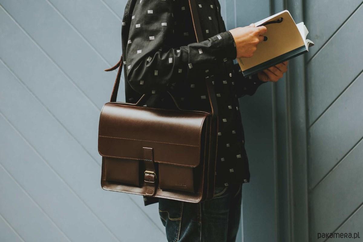 47a6110e8ae4d Aktówka listonoszka skórzana torebka A4 - torby na ramię - damskie ...