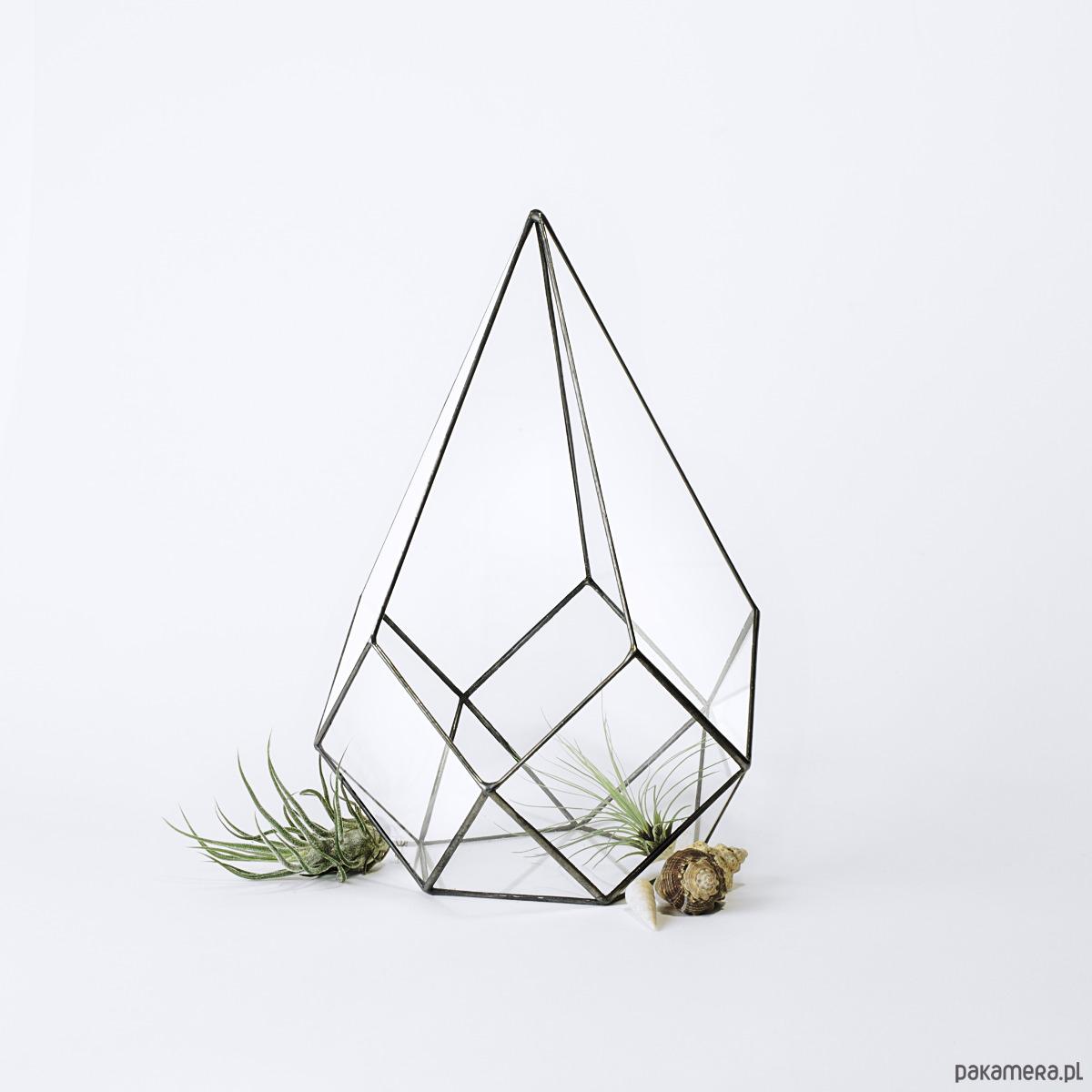 Doniczka Szklana Geometryczna Na Sukulenty Pakamerapl