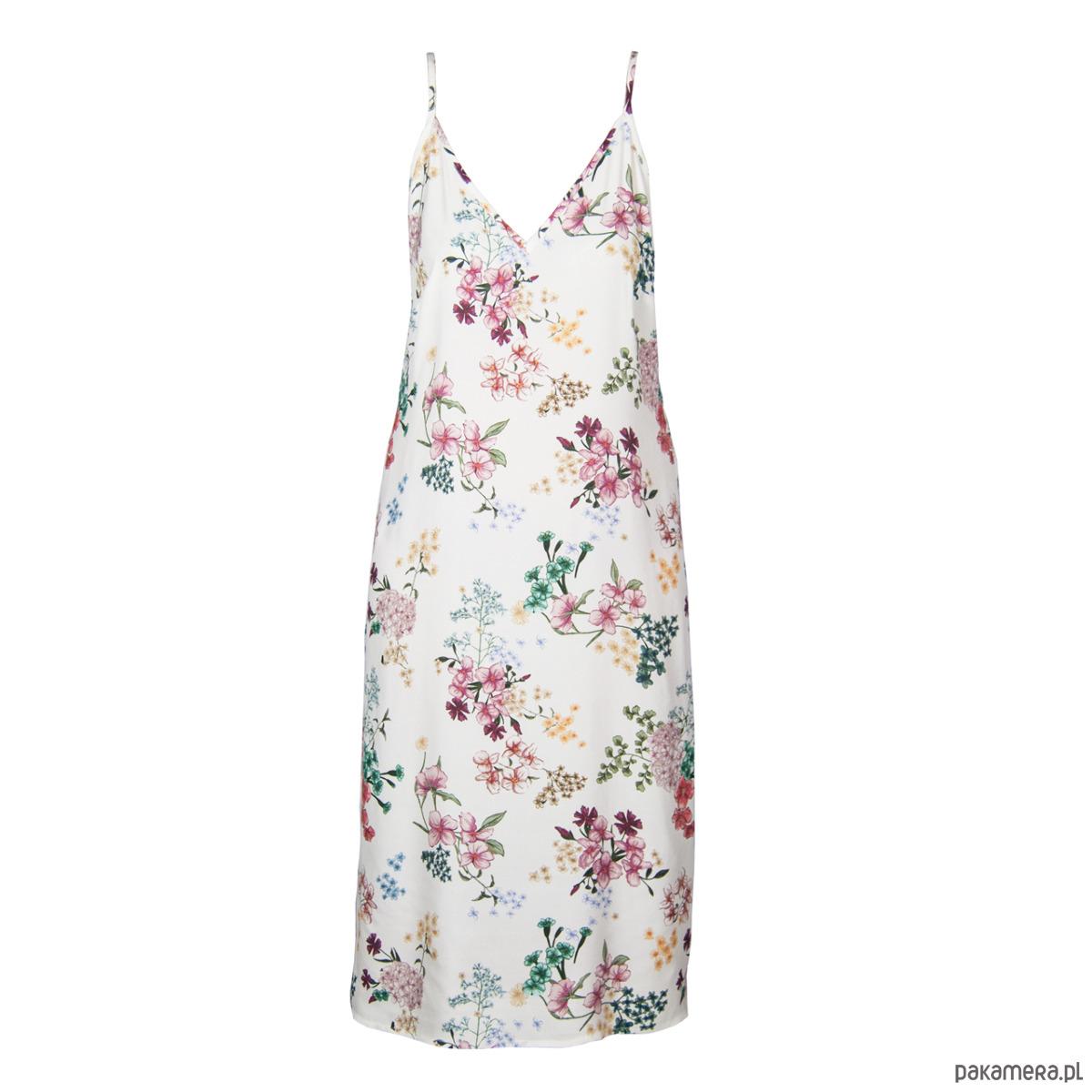 Bieliźniana sukienka w drobne kwiaty